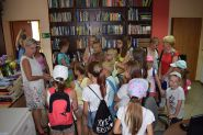 Odwiedziny dzieci z Gminnego Ośrodka Kultury w Klukach